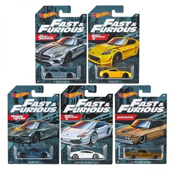 《風火輪Hot Wheels》風火輪合金車系列 玩命關頭 1套5入 Team Automotive Dash K Assorted