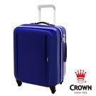【CROWN 皇冠】日本設計 19吋 PC 拉鍊拉桿 360度靜音車輪 中紫色 輕量 行李箱 / 旅行箱