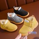 兒童靴子 兒童雪地靴男童中筒靴子鋪棉兒童棉靴防水新品冬季鞋女童短靴【快速出貨】