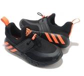 ADIDAS RAPIDAZEN C 黑X橘慢跑童鞋-NO.FX2692