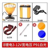 手電筒 超亮P90頭燈12鋰電強光充電遠射150000W分體式氙氣礦燈頭戴手電筒 星河光年