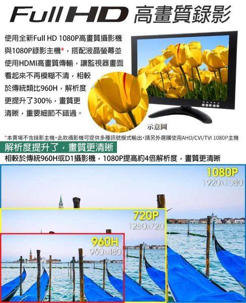【CHICHIAU】AHD/TVI/CVI/CVBS 四合一1080P SONY 200萬畫素數位高清6陣列燈監視器攝影機