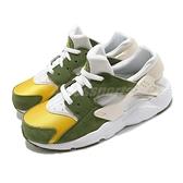 Nike 童鞋 Huarache Run LE QS PS 綠 黃 白 Stussy 聯名 【ACS】 DH3324-300