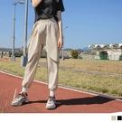《KS0793》防潑水造型腰帶片裙休閒褲/縮口褲 OrangeBear