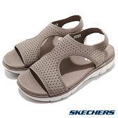 SKECHERS 女涼鞋 時尚休閒系列 FLEX APPEAL 2.0 網狀透氣鞋面 拇指外翻 - 卡其