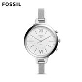 FOSSIL Q Annette 甜美女伶 經典款米蘭帶銀色不鏽鋼指針式智慧手錶 女 FTW5026