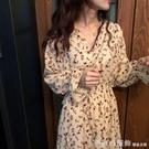 碎花雪紡洋裝2020秋冬季新款裙子仙女超仙森系學生氣質長裙胖mm 俏girl