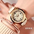 多倫茲流動水?女錶韓國時尚正韓潮流女學生皮帶防水石英手錶