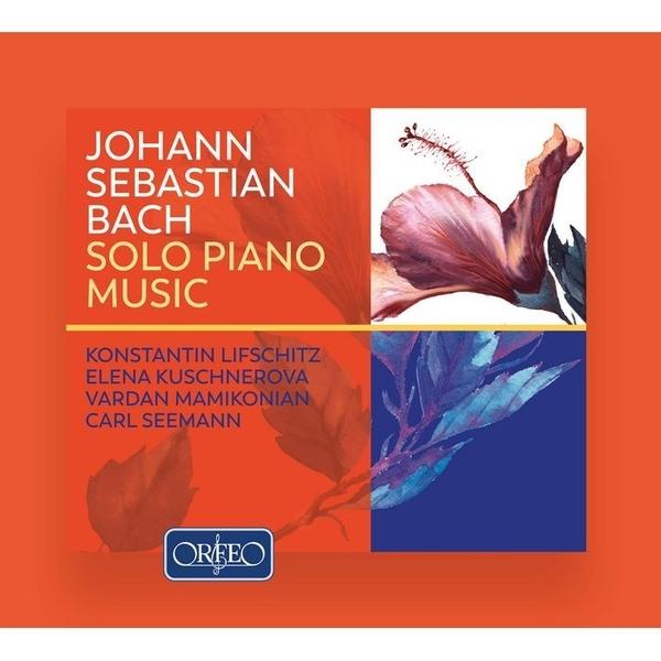 【停看聽音響唱片】【CD】巴哈:鋼琴獨奏音樂 列夫席茲, 庫興內諾娃, 卡爾.西曼 鋼琴