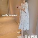 2020夏季新款日系可愛小清新少女碎花薄款寬鬆休閒睡衣家居服套裝 自由角落