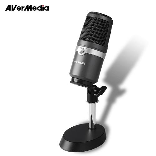 【AVerMedia 圓剛】AM310 黑鳩USB專業麥克風