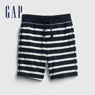 Gap男幼童 布萊納系列 口袋印花休閒短褲 542324-藍色條紋
