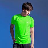 美國AIRWALK 反光條設計吸排圓領T恤-螢光綠