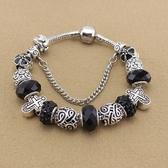 串珠手鍊-個性十字架黑色系列水晶飾品女配件73kc438【時尚巴黎】