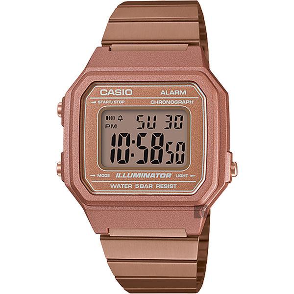 CASIO 卡西歐 復古文青大數字電子錶-玫瑰金 B650WC-5ADF / B650WC-5A