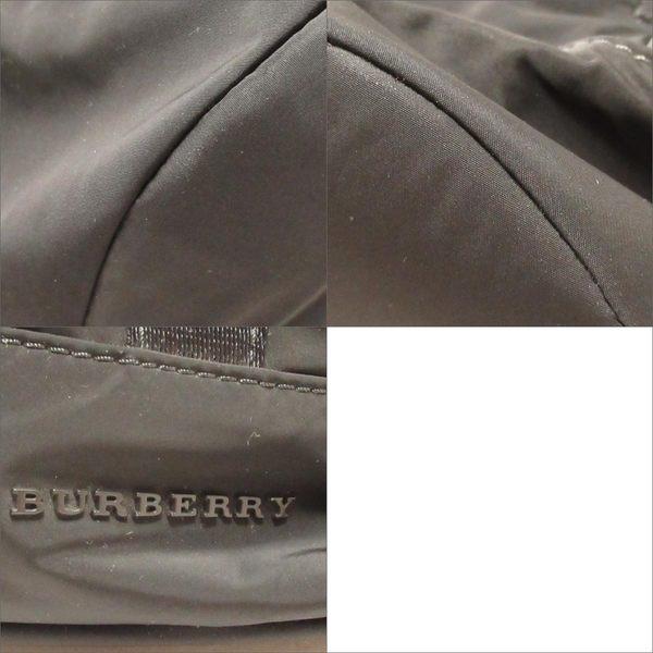 BURBERRY 巴寶莉 黑色尼龍抽繩後背包 Rucksack 【二手名牌BRAND OFF】