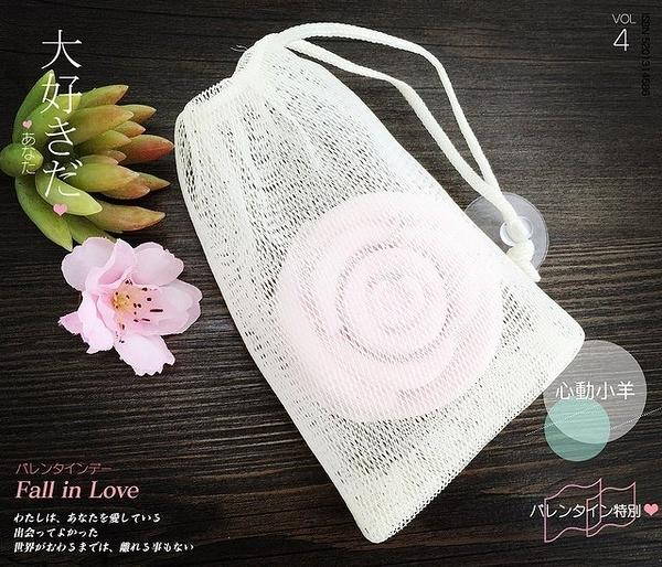 心動小羊^^雙層皂袋起泡網附吸盤,讓皂更好用喔!