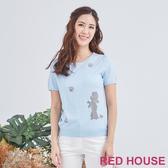 【RED HOUSE 蕾赫斯】貴賓狗針織衫(共2色)