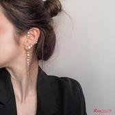 耳掛 高級感小眾耳環女新款潮韓國長款氣質網紅耳飾品優雅耳掛耳墜