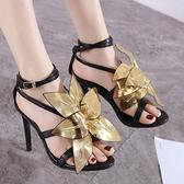 歐美走秀高跟女式手工大花朵涼鞋 夜店舞臺表演高跟鞋