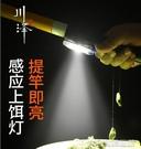 夜釣燈川澤魚竿感應上餌燈usb充電強光超亮夜釣裝備自動餌燈釣魚夜釣燈 快速出貨