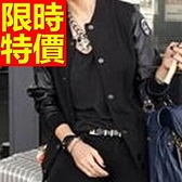 棒球外套女夾克-棉質保暖甜美精美質感日系典雅1色59h137【巴黎精品】