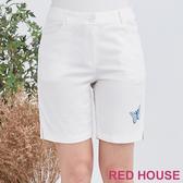 【RED HOUSE 蕾赫斯】蝴蝶短褲(白色)