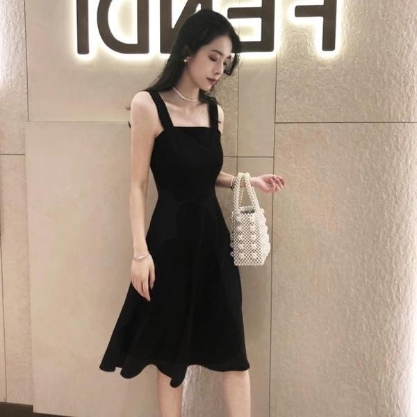 一字肩洋裝 2020新款名媛夏季女士裙子仙女超仙森系吊帶收腰顯瘦氣質洋裝女 果果生活館