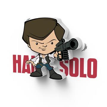萬聖節~星際大戰七部曲 原力覺醒 3D造型迷你夜燈-Han Solo -  (加拿大原裝進口)/3D LIGHT FX出品