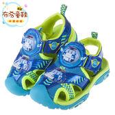 《布布童鞋》POLI救援小英雄波力藍色電燈護趾涼鞋(15~19公分) [ B7K116B ] 藍色款
