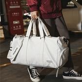 短途旅行包獨立鞋位健身包女運動訓練包男pu防水手提登機包行李袋