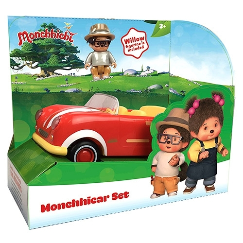 《 Monchhichi 夢奇奇 》Willow 汽車組 (內附公仔Willow一隻)╭★ JOYBUS玩具百貨