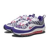 NIKE WMNS AIR MAX 98 粉紫 白 慢跑 全氣墊 休閒鞋 女(布魯克林) AH6799-110