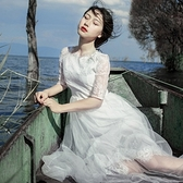 長洋裝 波西米亞風-優雅氣質唯美網紗女連身裙2色73mw3[巴黎精品]