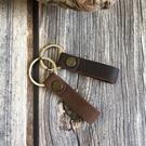 【Solomon 原創設計皮件】現貨 瘋馬皮鑰匙圈 真皮情人鑰匙吊飾 可加購烙字 聖誕禮物