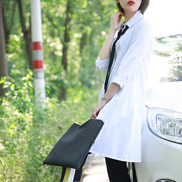 [超豐國際]W   兩款樣式 襯衫式連衣裙(附腰帶) 女