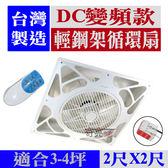 含稅 台灣製造 2尺 DC變頻 輕鋼架循環扇 節能循環扇 崁入式風扇 天花板循環風扇 WL-15WV1D