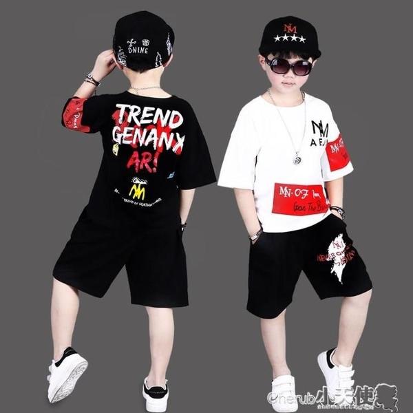 演出服 兒童個性服裝街舞架子鼓演出男童走秀時尚潮模特男孩帥氣套裝【】新年禮物