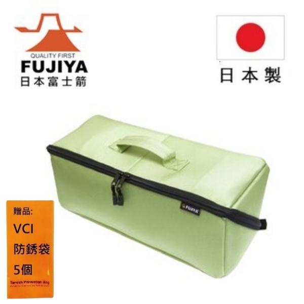 【日本Fujiya富士箭】河馬大開口工具袋(中)綠 FTC2-MLG