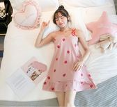 睡裙女夏吊帶性感帶胸墊學生可愛連身裙子睡衣夏季薄款孕婦家居服