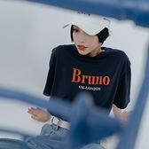 Queen Shop【01038870】Bruno撞色英文字母棉質T 三色售*現+預*