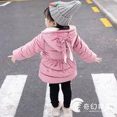 羽絨棉服女童冬裝棉衣外套2018新款女寶寶加厚羽絨棉襖嬰兒童加絨冬季棉服-奇幻樂園