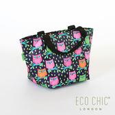 本月限定5折  ▎英國ECO CHIC 輕量保溫冷袋(貓頭鷹) 手提袋 環保袋 購物袋 收納袋 野餐 英國