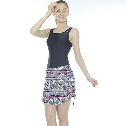 【南紡購物中心】【Bich Loan】水美連身裙泳裝附泳帽13006105