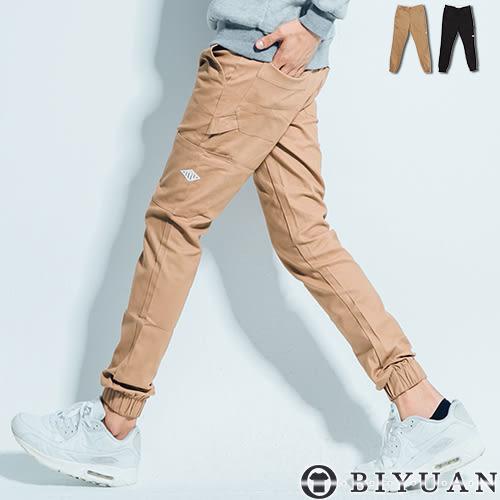 JOGGER束口工作褲【EK88013】OBI YUAN厚磅硬挺雙側口袋彈性休閒褲共2色
