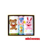 MIKI HOUSE 日本製 兔兔小熊可愛動物 毛巾禮盒
