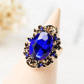 日韓飾品復古紅寶石食指戒指女個性夸張開口戒指潮人裝飾指環戒子 IV3156 【大尺码女王】