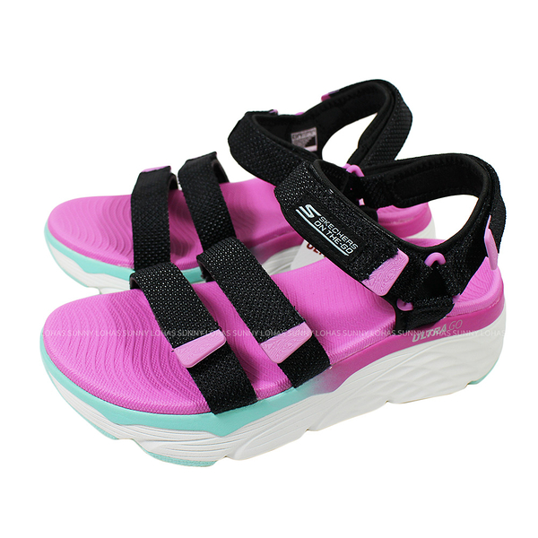 (B3) SKECHERS Max Cushioning-Slay 女休閒涼鞋 140120NVMT 厚底 緩衝 柔軟 耐磨 [陽光樂活]