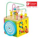 【德國 classic world】客來喜木頭玩具 中型多功能六面撥珠 CLA3640(074F)