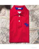 【蟹老闆】Abercrombie & Fitch 美國麋鹿 A&F 男短袖POLO衫 藍大麋鹿紅